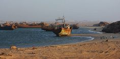 Nouadhibou is the second largest city in Mauritania. It is famous for being the location of one of the largest ship graveyards in the world.