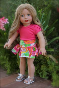 """Just right for summer. 18"""" doll outfit fits American Girl. Worn by Harmony Club Doll, Cadence Rose. Doll & Outfit at www.harmonyclubdolls.com"""