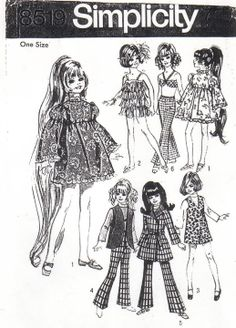 Free Copy of Pattern - Simplicity 8519 - Crissy Doll