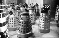 Dr. Who and the Daleks (1965): The Daleks were first introduced on TV in 1963, and were battled by Peter Cushing in the 1965 feature film