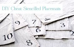 DIY {Cheat} Stencilled Placemats