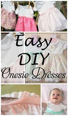 Easy Sew Onesie Dresses   createandbabble.com Would be a great project for your infant or toddler on your next   Disney vacation!