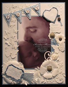 A gorgeous use of the Stampin' Up Pennant Stamp on a scrapbook page by Sandra Farrell