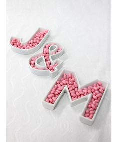 Love Letter Ceramic Dishes - $5.95»  You could hang these letter dishes on the wall, or you could fill them with candy and arrange them on your coffee table. Which one sounds like more fun?