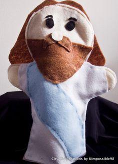 Biblical Felt Puppets - Jesus. $9.50, via Etsy.