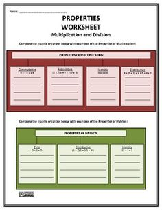 Properties Duo - Assessment and Worksheet