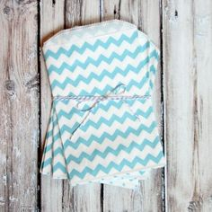 Chevron Favor Bags - Blue - Medium