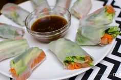 Photo Step by step spring rolls recipe