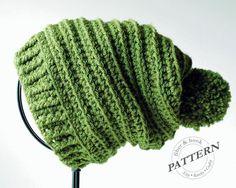 Slouchy Beanie Crochet Pattern | Learn to Crochet