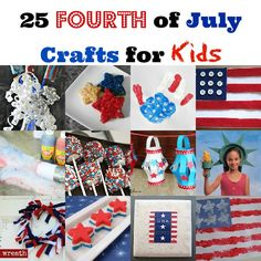 Summer Activities for Kids: 25 Fourth of July Crafts #crystalandcomp