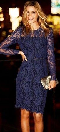 midnight blue lace dress