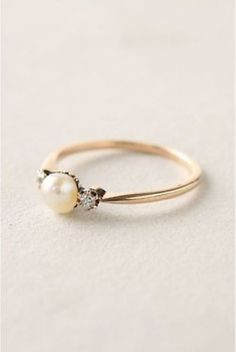 "Pinner said: ""Pearl ring with 2small diamonds and on gold, wow! A treat when u have ur 1st child"" I would give this to my mommy on my wedding day because I am her first."