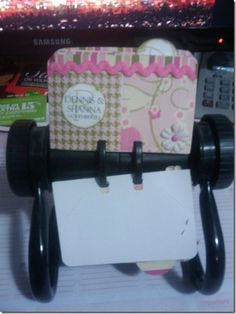 Rolodex birthday calendar.  I made 3 of these and they were so fun!  I love how pretty it is!