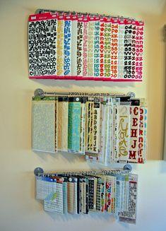 Hanging alphabet storage