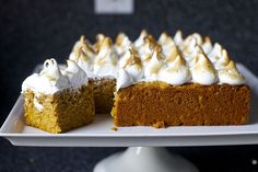 sweet potato cake with toasted marshmallow frosting | smittenkitchen.com