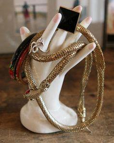vintage Whiting & Davis snake necklace
