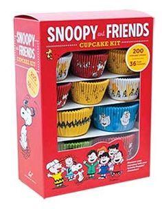 books, friends, cupcakes, chronicl book, snoopi, cupcak kit, snoopy, peanut gang, friend cupcak