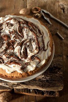 #Nutella & Meringue Tart   #tart #pie #dessert