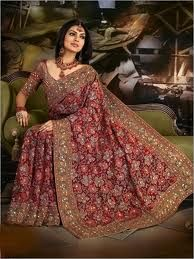 Celebrities in India show off wearing fabulous signature bridal outfits, yet anyone can be the center of attraction when complemented by sarees in lehenga style saree pattern bridal wear, signatur bridal, pattern, style sare, bridal sare, bridal outfit, vari color, indian bridal