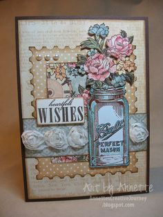 """Graphic 45 Sympathy Card using """"A Ladies' Diary"""" collection."""