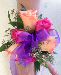 Wrist corsage     #flowers #prom #corsage
