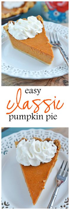 When the holidays roll around, there is just nothing like a Classic Pumpkin Pie.  Even better - it's super simple to prepare and is always a hit at the table.  With just 15 minutes of prep time, your holiday planning just got off to a quick start! | Kitchen Meets Girl