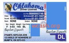 Template Oklahoma drivers license editable photoshop file .psd