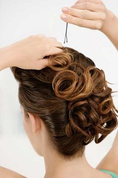 Easy curly updo  #hairstyles