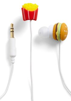 Burger and friend earbuds