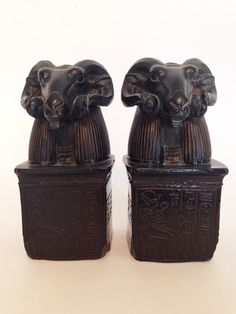 Pair of Ram Aries Egyptian Statues Bookend Heavy by MyDarlingHouse, $120.00