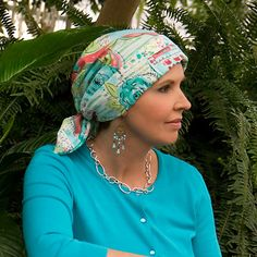 Beautiful print! Head scarf // Wigs and Hair Replacement