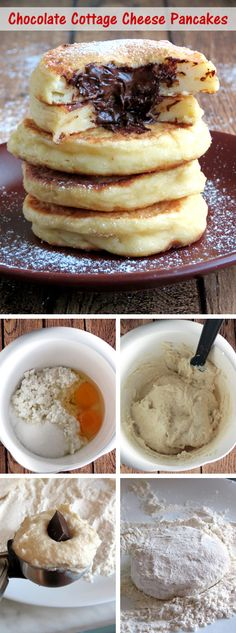 Chocolate Cottage Cheese Pancakes | YummyAddiction.com