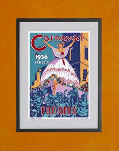 Panama Carnaval Poster 1936  Poster Print by TwoDovesPrinting, $7.00