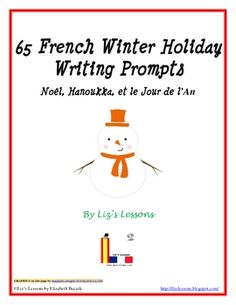 FREE 65 French Winter Holiday Writing Prompts