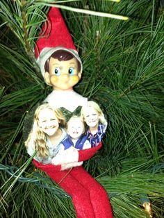 big hug, holiday christma, shelf idea, shelf hug, famili, xmas ornament, homes, christma elf, elves