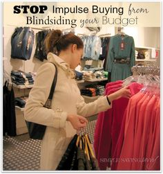 30 Day Budget Bootcamp: Avoiding Temptations & Impulse Purchases!