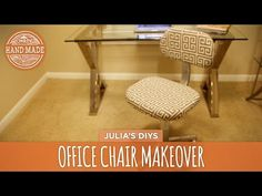 No-Sew Office Chair Makeover - HGTV Handmade - YouTube