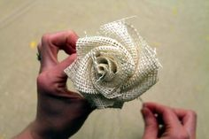 Scroll down on the page to see steps to making this rose