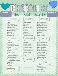 Baby checklist on Pinterest   Baby Checklist, Baby ...