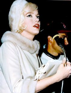 A rare colour photo of Marilyn making her final public appearance at the Dodgers Stadium on her 36th birthday, June 1st 1962.