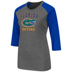 Florida Gators Womens Charcoal Nimbus 3/4 Sleeve T-Shirt