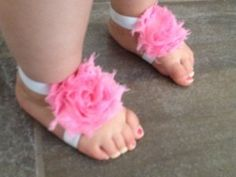 barefoot sandals for babies tutorial! Takes less than 15 minutes! Why pay $5 or more on Etsy when you can make them yourself?