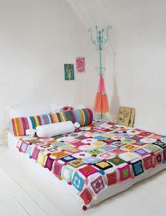 DIY: patchwork blanket