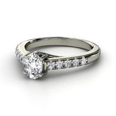Boulevard Ring, Oval Diamond  Platinum Ring from Gemvara, maybe one day...