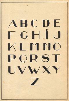 ABC / lettering / vintage