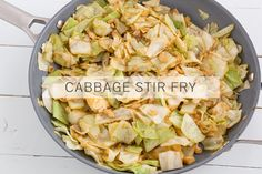 Cabbage Stir Fry // This stir fry looks unassuming, but it's so good! Roughly chop half a head of cabbage and whisk together 2 tablespoons o...