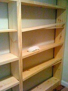 Framing for built in shelving