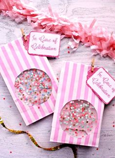 #DIY #crafts #Valentine's Day #giftwrapping ideas Confetti window #treat bags #party ToniK ⓦⓡⓐⓟ ⓘⓣ ⓤⓟ http://icingdesignsonline.blogspot.co.at/