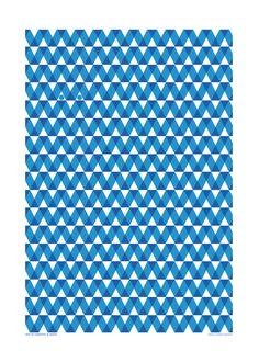 Teatowel  Blue graph