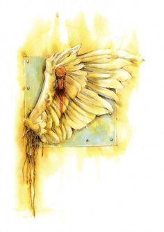 angel sanctuary, angel sanctuari, broken wing
